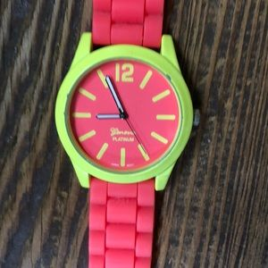 Neon Geneva watch